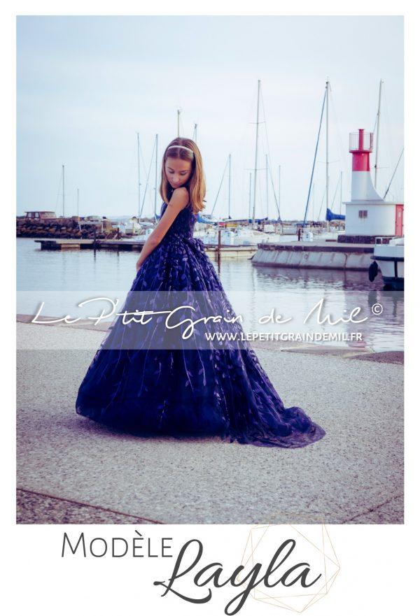 longue robe de soirée mariage fille ado 8 10 12 14 ans prestige luxe