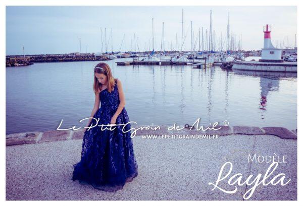 robe ado mariage 12 14 ans bleu nuit robe invité cérémonie prestige luxe