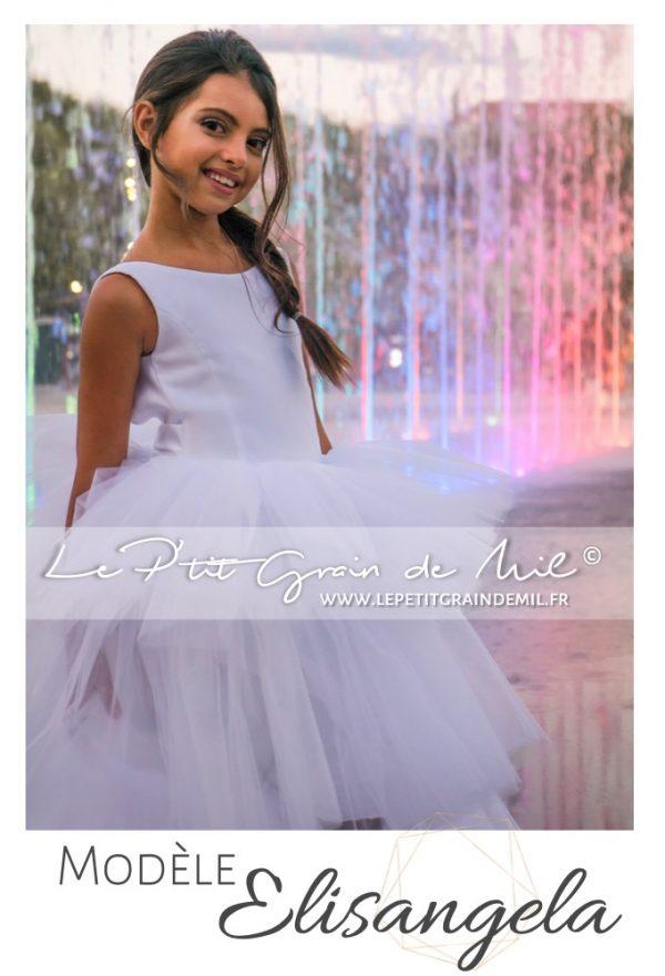 robe de demoiselle d'honneur enfant fille ado mariage cérémonie princesse bohème