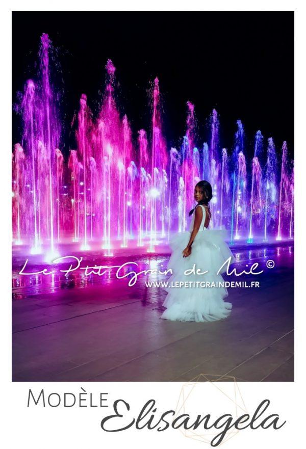 robe de demoiselle d'honneur mariage enfant fille ado asymétrique luxe