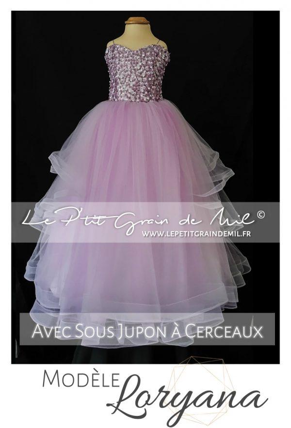 robe de princesse enfant ultra volume mariage cérémonie