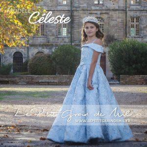 robe de princesse luxe mariage enfant fille en brocart