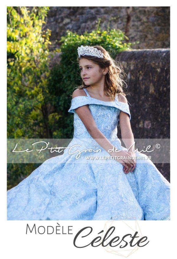 robe de princesse mariage cérémonie enfant fille prestige luxe unique créateur cendrillon
