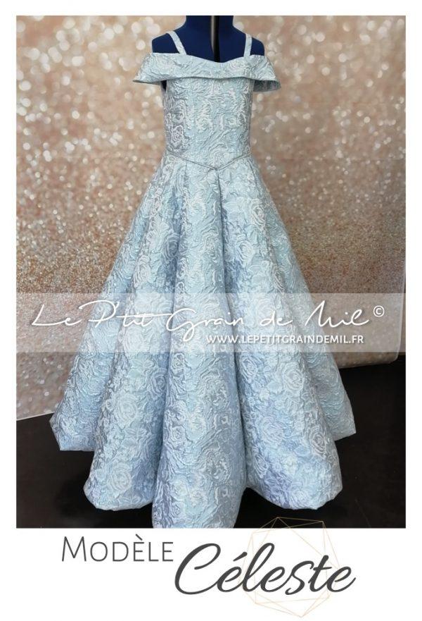 robe de soirée chic et classe mariage cérémonie créateur luxe enfant fille ado