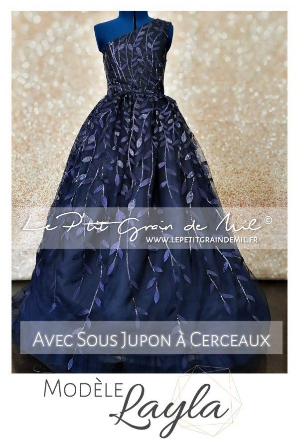 robe de soirée féérique pour adol 10 12 14 Ans mariage