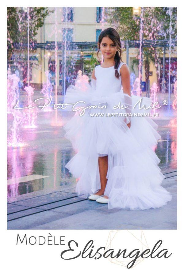 robe demoiselle d'honneur fille 14 ans mariage cérémonie luxe