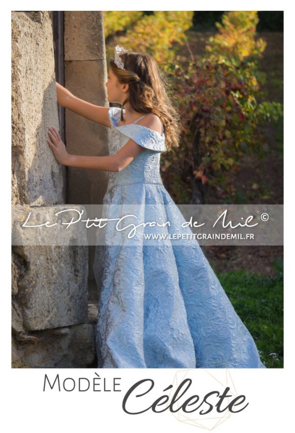 robe mariage princesse enfant fille robe de cérémonie prestige luxe cendrillon