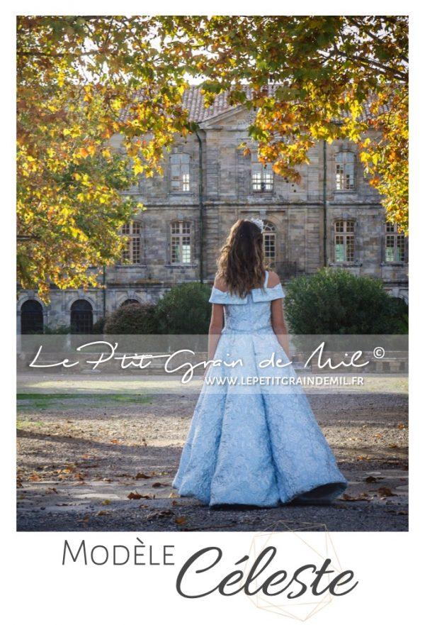 robe princesse mariage cérémonie enfant fille prestige luxe unique créateur cendrillon