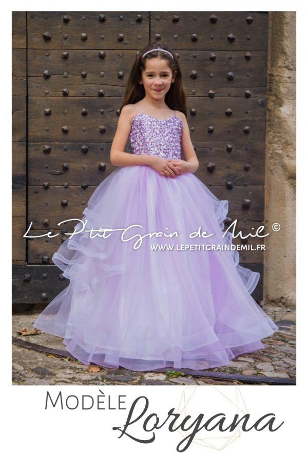 robe tutu de princesse en tulle mariage cérémonie bustier coeur sequins paillettes mini mariée