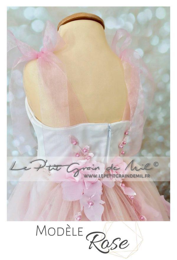 robe tutu mariage princesse fille rose poudré romantique